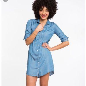 Chambray/jean light weight shirt dress